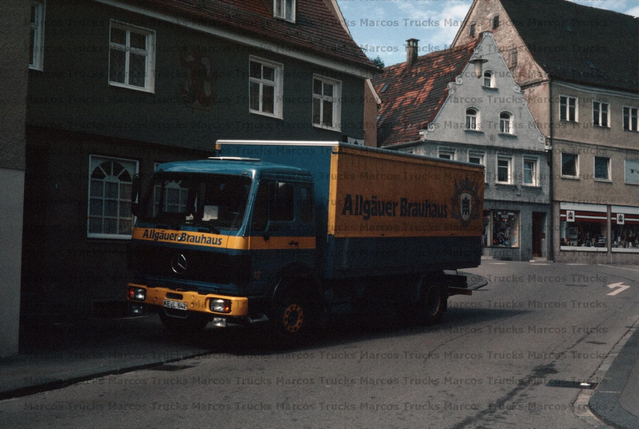 LKW Foto MB NG Pritsche Sattelzug beige//blau Neuwied 10x15cm//LF301