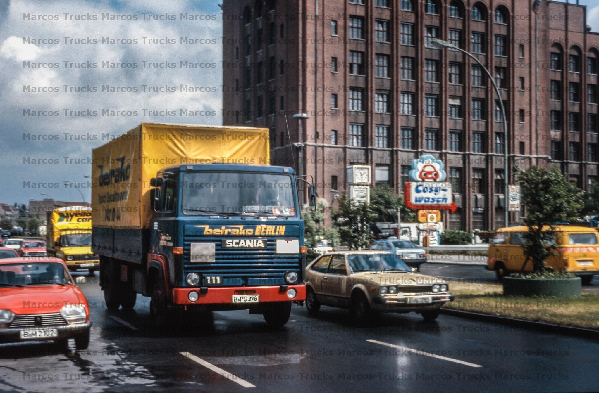 LKW Foto Scania 111 und Saurer5DF Hängerzug Schweiz 10x15cm//LF299